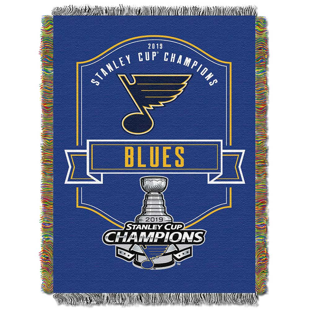 St Louis Blues Nhl 2019 Stanley Cup Champions Woven Tapestry Throw Blanket The Northwest Group Llc